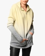 Nicole Miller Dip-Dyed Cashmere Hoodie 0
