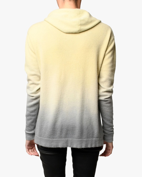 Nicole Miller Dip-Dyed Cashmere Hoodie 1