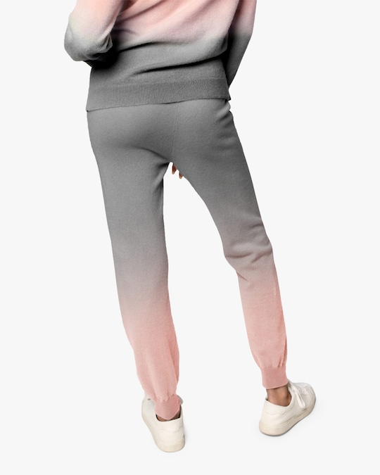 Nicole Miller Dip-Dyed Cashmere Joggers 1