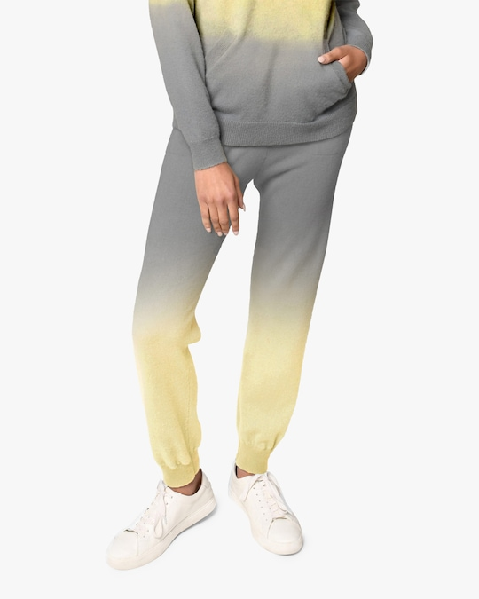 Nicole Miller Dip-Dyed Cashmere Joggers 0