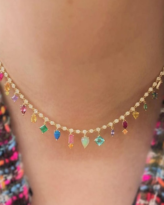 Eden Presley Rainbow Collar Necklace 2