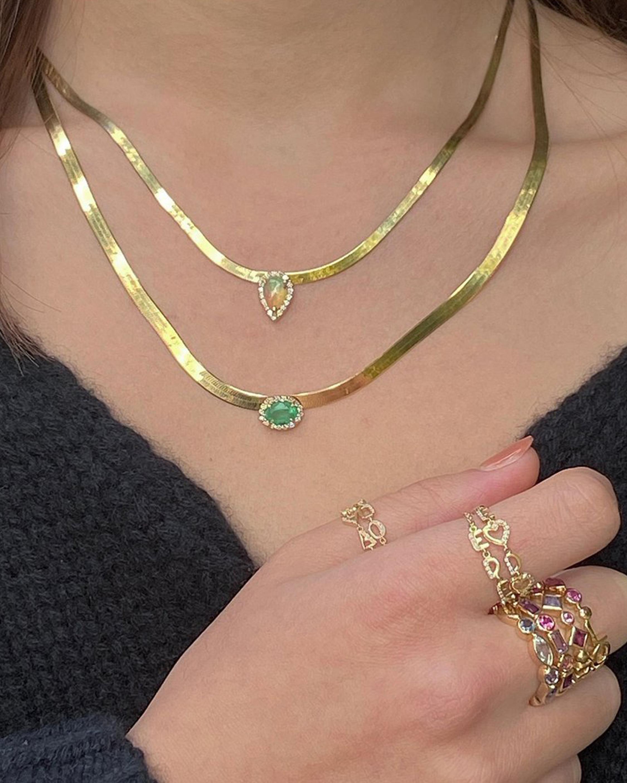 Eden Presley Opal Herringbone Necklace 2