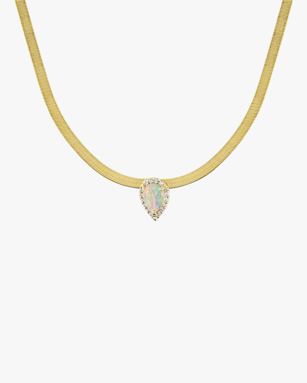 Eden Presley Opal Herringbone Necklace 1
