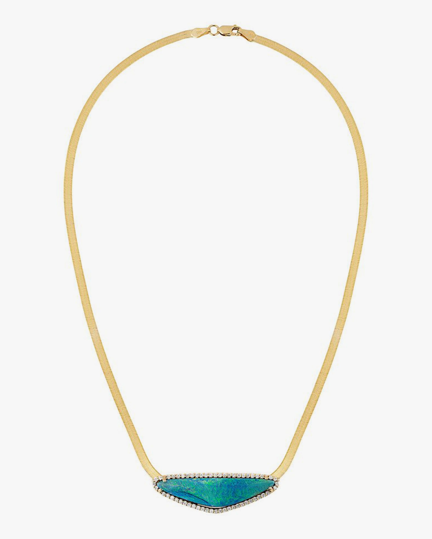 Eden Presley Boulder Opal Herringbone Pendant Necklace 1