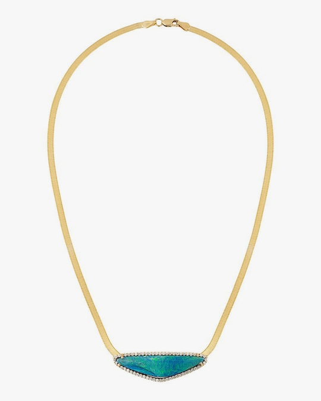 Eden Presley Boulder Opal Herringbone Pendant Necklace 0