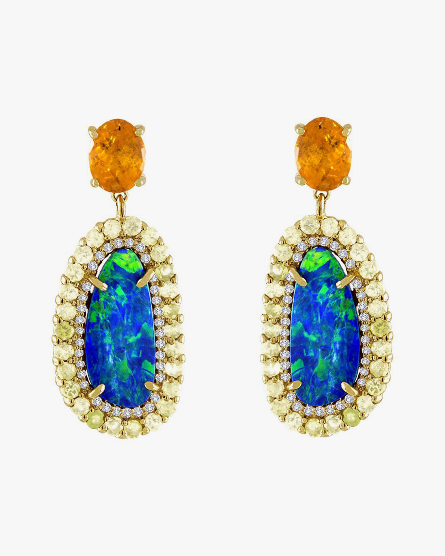 Boulder Opal & Diamond Drop Earrings