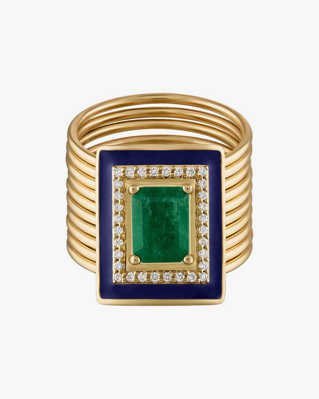 Emerald & Diamond Harem Ring