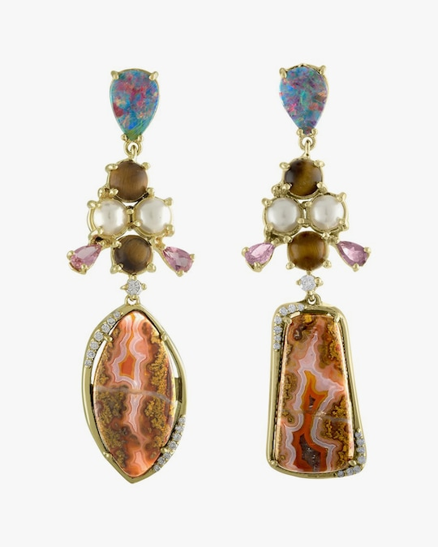 Eden Presley Gemstone & Diamond Drop Earrings 0