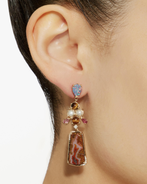 Eden Presley Gemstone & Diamond Drop Earrings 1