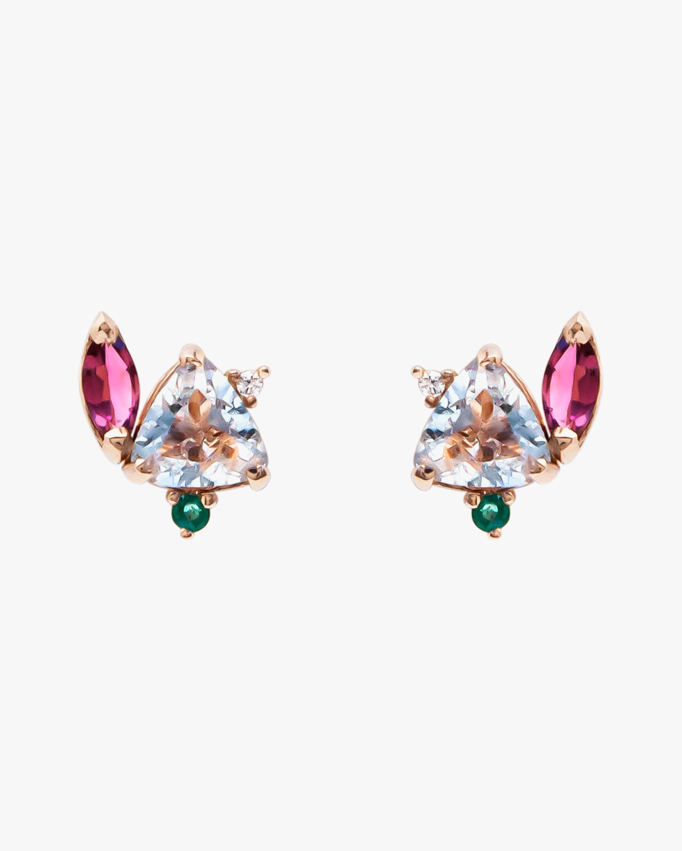Carolina Neves Gemstone & Diamond Flying Stones Earrings 1