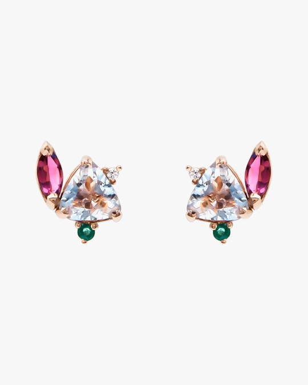 Carolina Neves Gemstone & Diamond Flying Stones Earrings 0