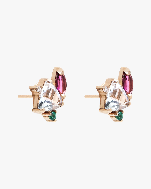 Carolina Neves Gemstone & Diamond Flying Stones Earrings 2