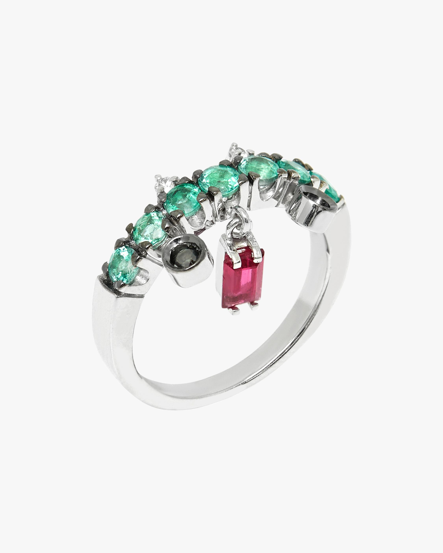 Carolina Neves Gemstone & Diamond Dangle Ring 1