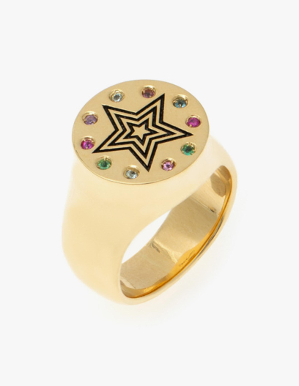 Carolina Neves Gemstone Star Ring 1