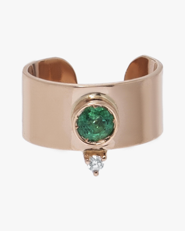 Carolina Neves Emerald & Diamond Ear Cuff 1
