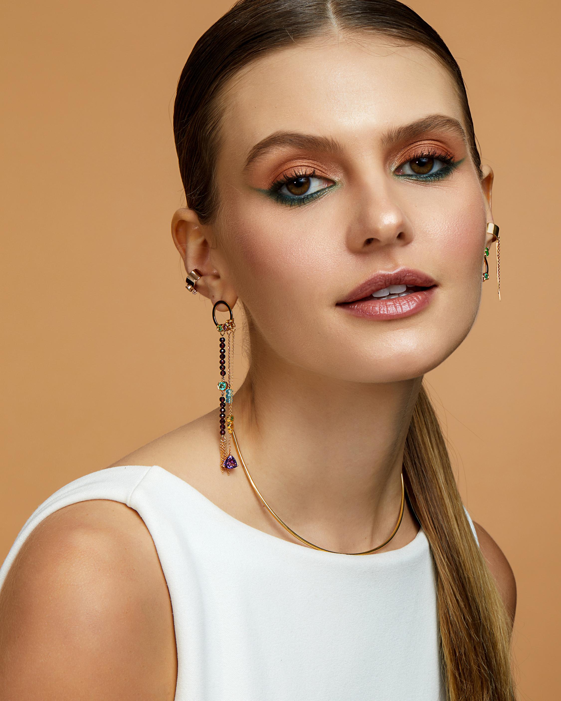 Carolina Neves Emerald & Diamond Ear Cuff 2