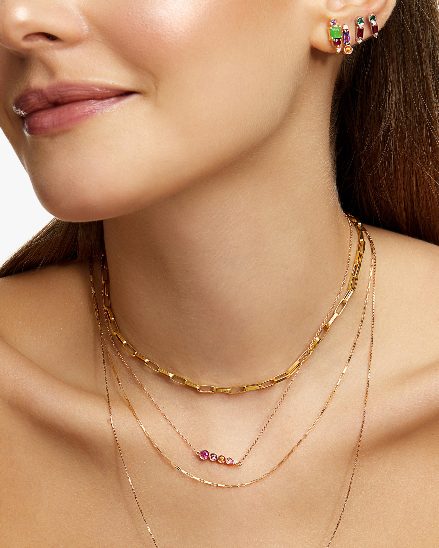 Carolina Neves Amethyst & Diamond Bar Stud Earrings 1