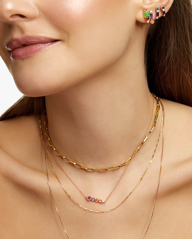 Carolina Neves Amethyst & Diamond Bar Stud Earrings 2