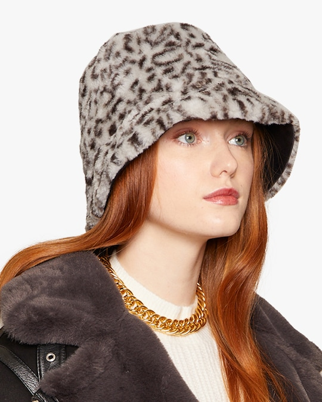 Eugenia Kim Charlie Leopard Print Bucket Hat 1