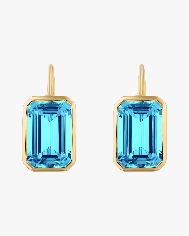 Goshwara Gossip Blue Topaz Earrings 1