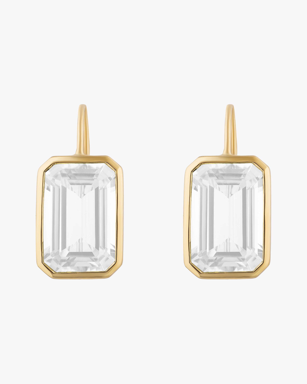 Goshwara Gossip Moon Quartz Earrings 0