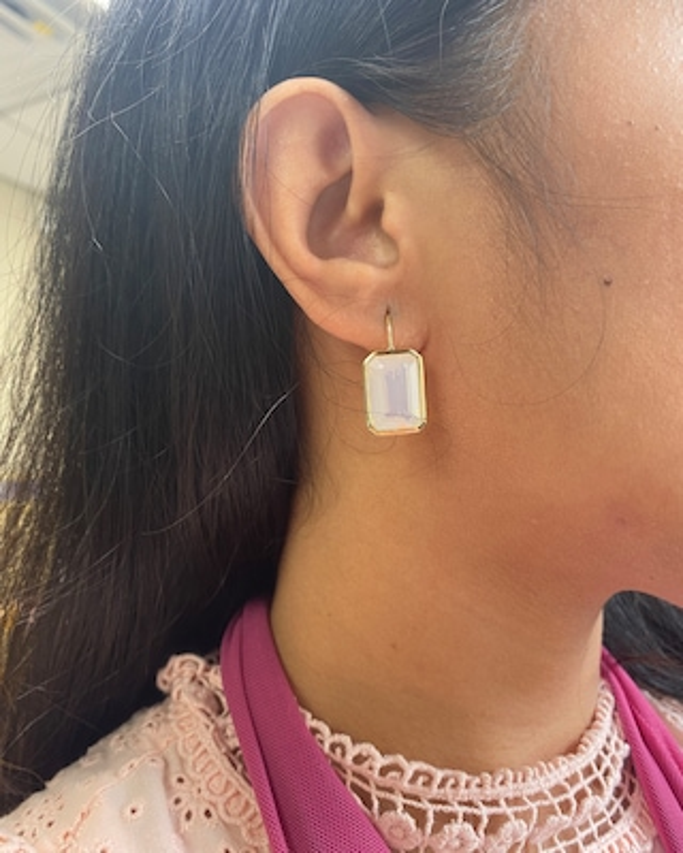 Goshwara Gossip Moon Quartz Earrings 2