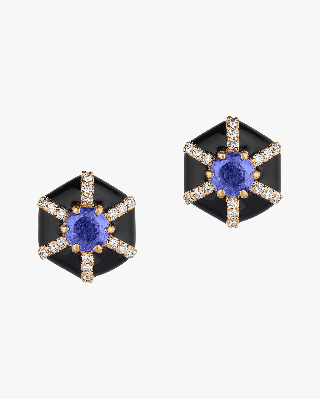 Goshwara Queen Sapphire & Diamond Earrings 0