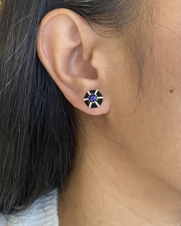 Goshwara Queen Sapphire & Diamond Earrings 1