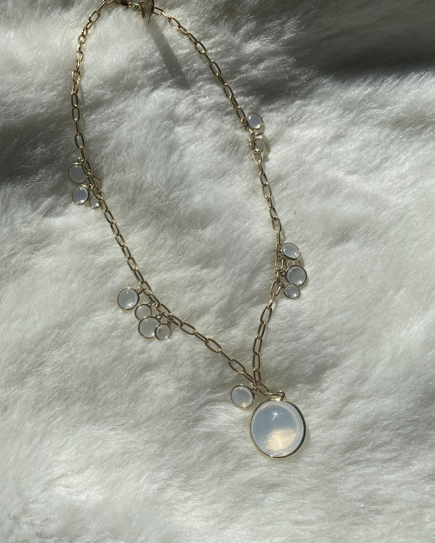 Goshwara Mischief Moon Quartz & Diamond Necklace 2