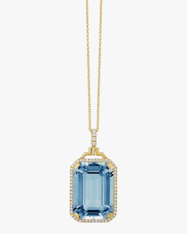 Goshwara Gossip Blue Topaz Pendant Necklace 0