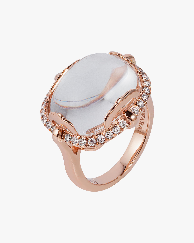 Goshwara Rock-n-Roll Rock Crystal & Diamond Ring 0