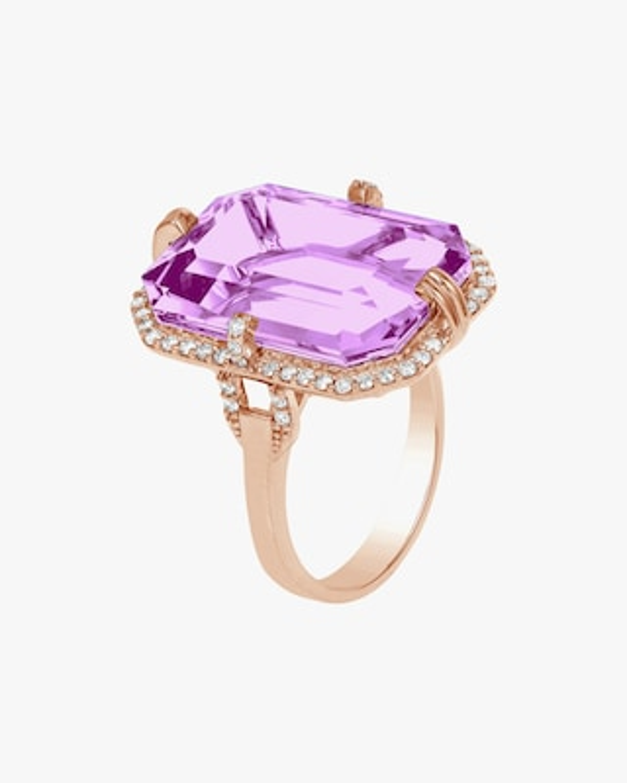 Goshwara Gossip Amethyst & Diamond Ring 2
