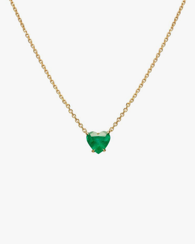 Chérut Heart-Shaped Emerald Pendant Necklace 0