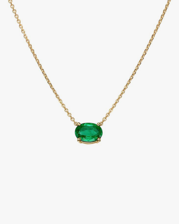 Chérut Oval-Shaped Emerald Pendant Necklace 0