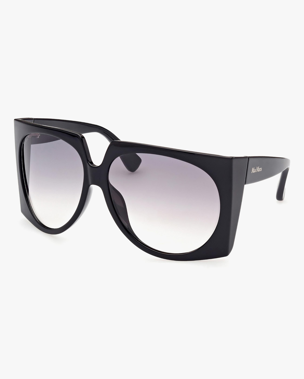 Max Mara Black Geometric Sunglasses 0