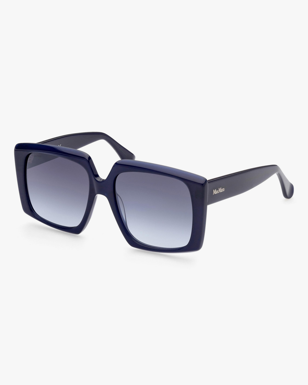 Max Mara Blue Geometric Sunglasses 2