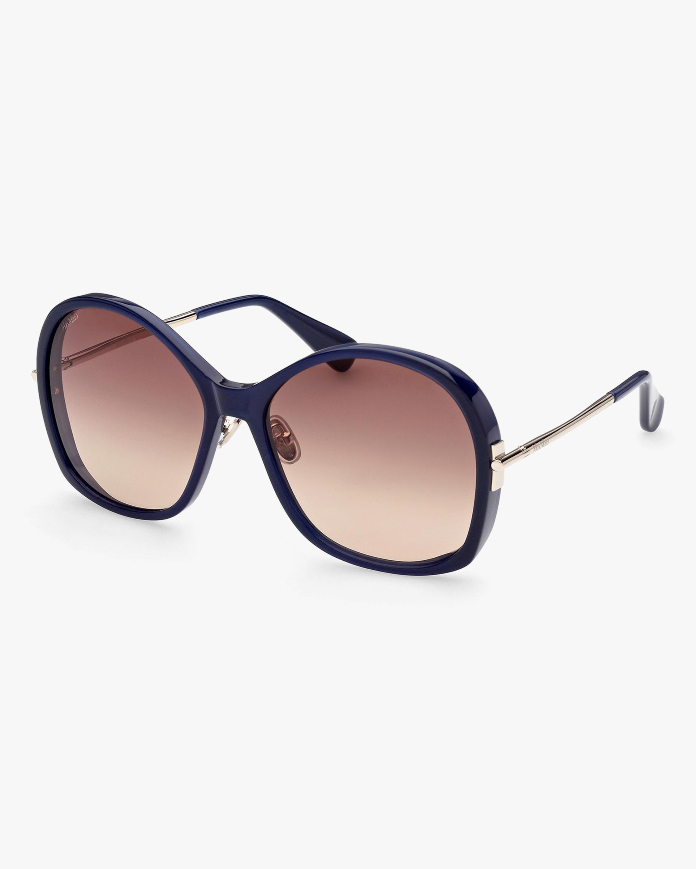 Max Mara Brown Round Sunglasses 0