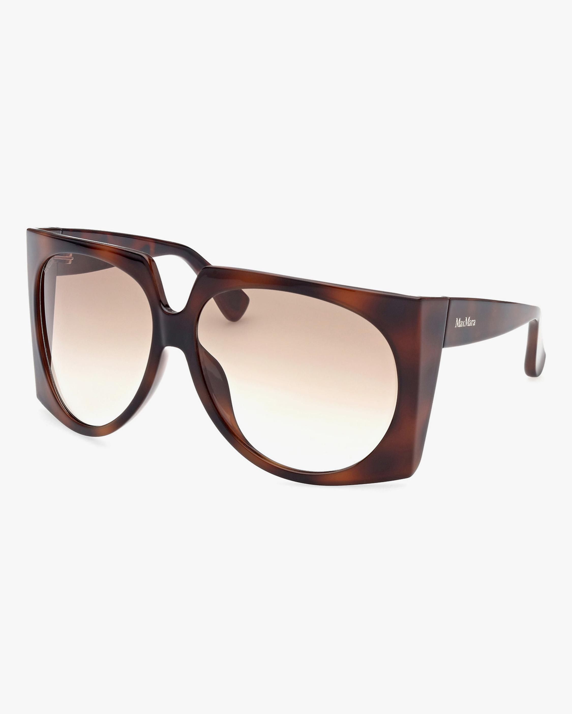 Max Mara Brown Geometric Sunglasses 1