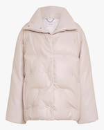 Dorothee Schumacher Smooth Structure Faux Leather Jacket 0