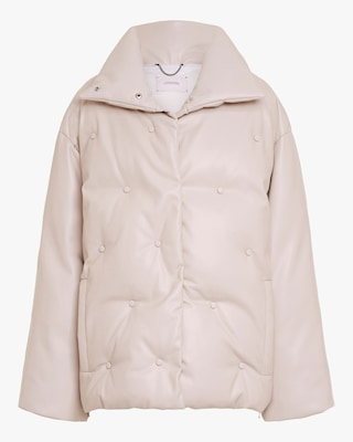 Dorothee Schumacher Smooth Structure Faux Leather Jacket 1