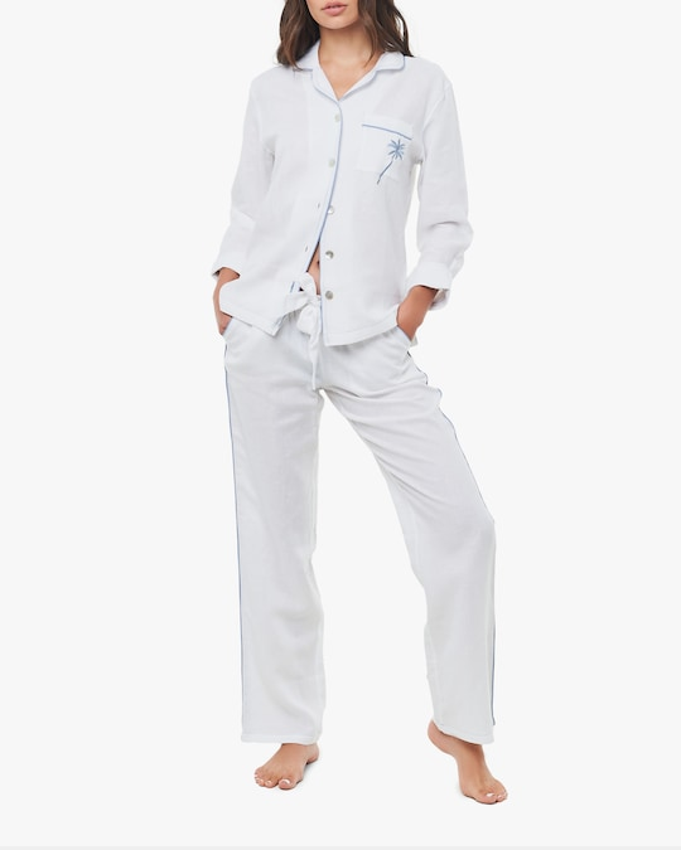 The Lazy Poet Emma Linen Pajama Set 0