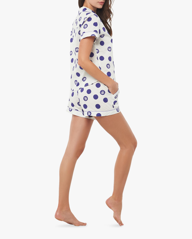 The Lazy Poet Nina Short-Sleeve Cotton Pajama Set 1