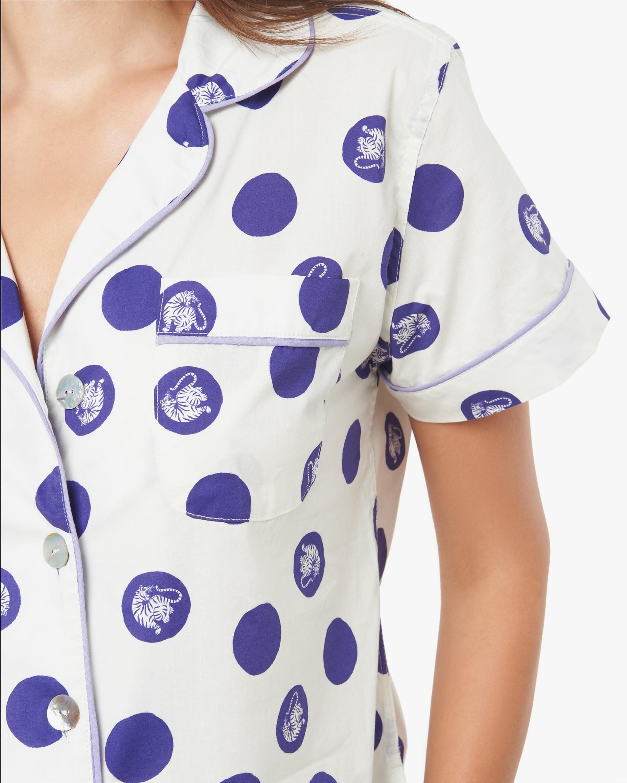 The Lazy Poet Nina Short-Sleeve Cotton Pajama Set 3