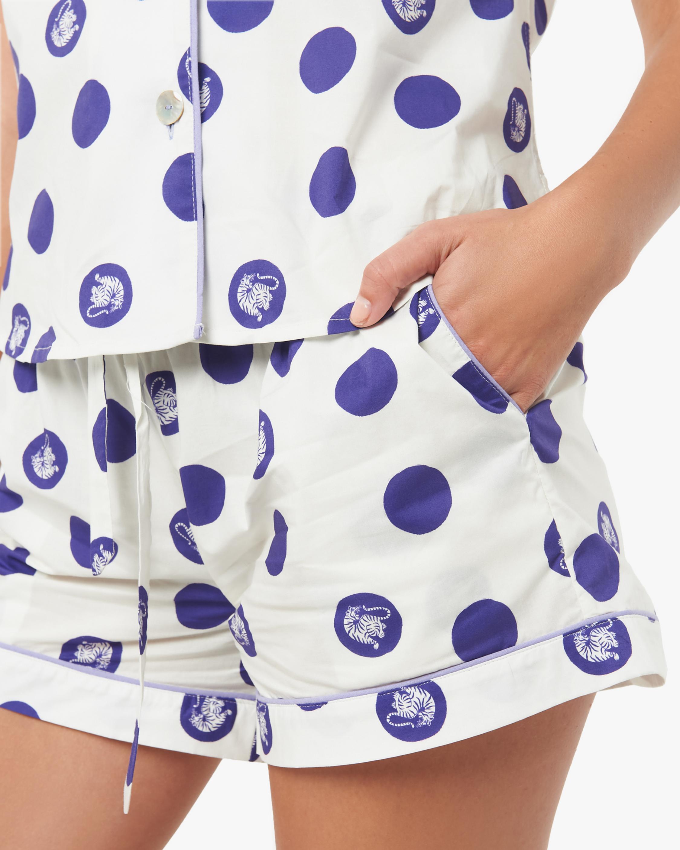 The Lazy Poet Nina Short-Sleeve Cotton Pajama Set 4