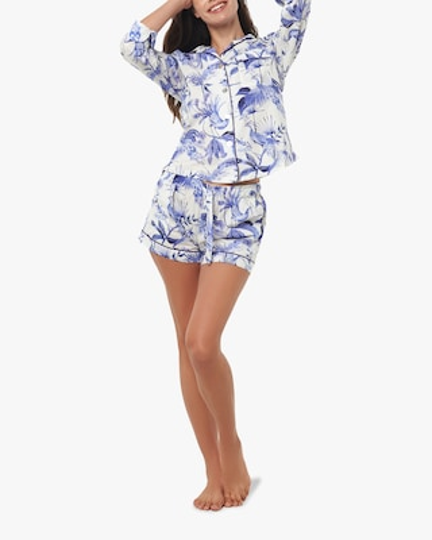 The Lazy Poet Vera Long-Sleeve Cotton Pajama Set 1