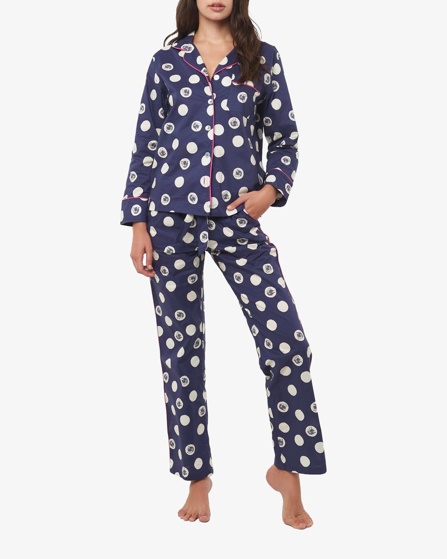The Lazy Poet Vera Long-Sleeve Linen Pajama Set 0