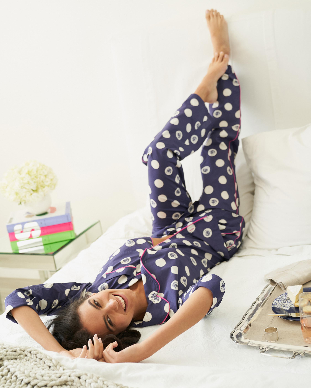 The Lazy Poet Vera Long-Sleeve Linen Pajama Set 2