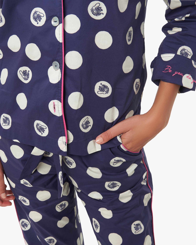 The Lazy Poet Vera Long-Sleeve Linen Pajama Set 4
