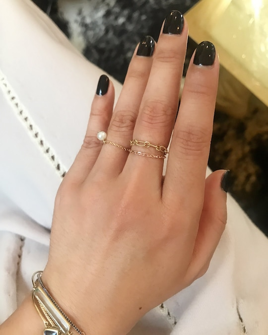 Yi Collection Hand-Twisted Chain Ring 1
