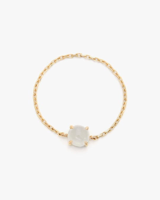 Yi Collection White Ice Jade Chain Ring 0